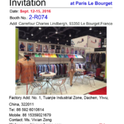 Invitation to Apparel Sourcing Paris from Warhorse Garment (1)