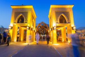 DUBAI, UAE - 1 APRIL 2014: Dubai Mall and the Luxurious Address